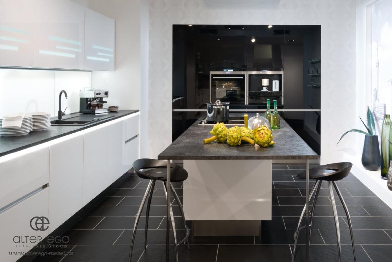 Nolte Glas Tec прямая кухня glas tec plus фабрики nolte kuchen студия мебели